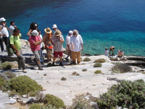 Daily excursion to Grammata ( a beach with ancient inscriptions on the rocks)
